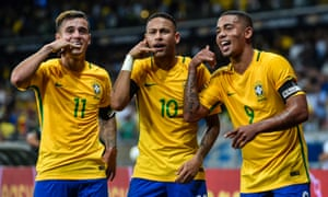 Philippe Coutinho, left, Neymar and Gabriel Jesus give Brazil formidable options in attack.