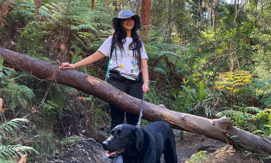 Ria Andriani bushwalking in the Blue Mountains. 'With the appropriate equipment and support, the Australian bush is a wonderful place to explore.'