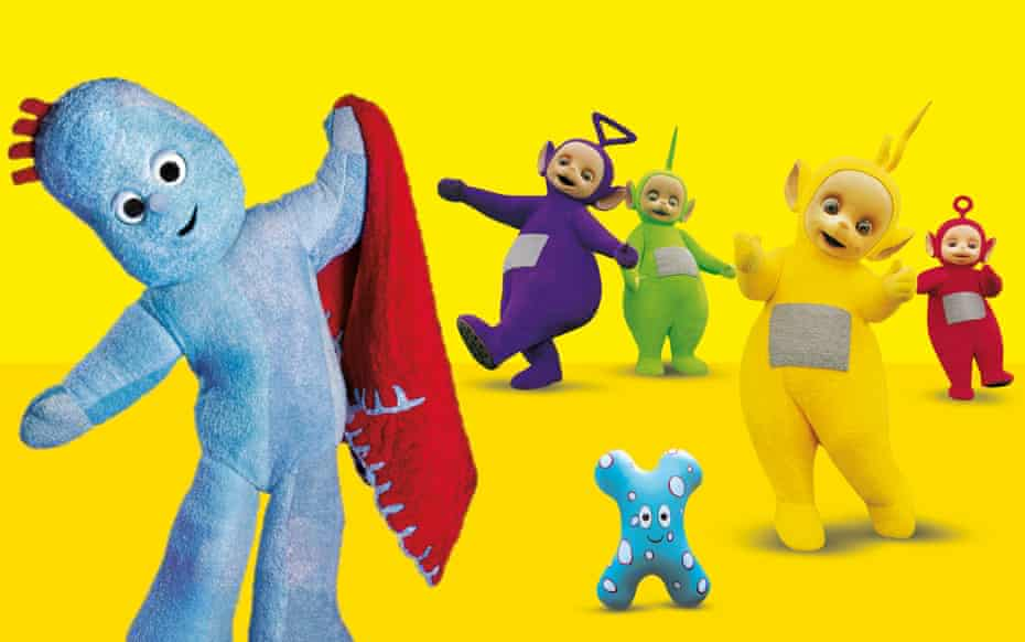 Characters from the CBeebies shows In the Night Garden and Teletubbies.