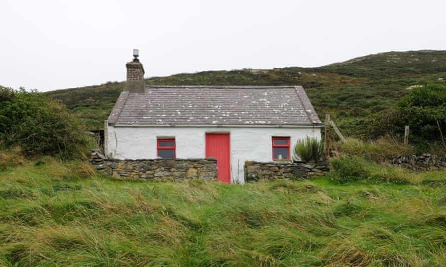 Traditional Welsh Cottage on Bardsey Island Ynys Enlli Llyn Peninsula Gwynedd Wales Cymru uK