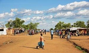 Refugees at Bidibidi zone 2 settlement centre in North Uganda