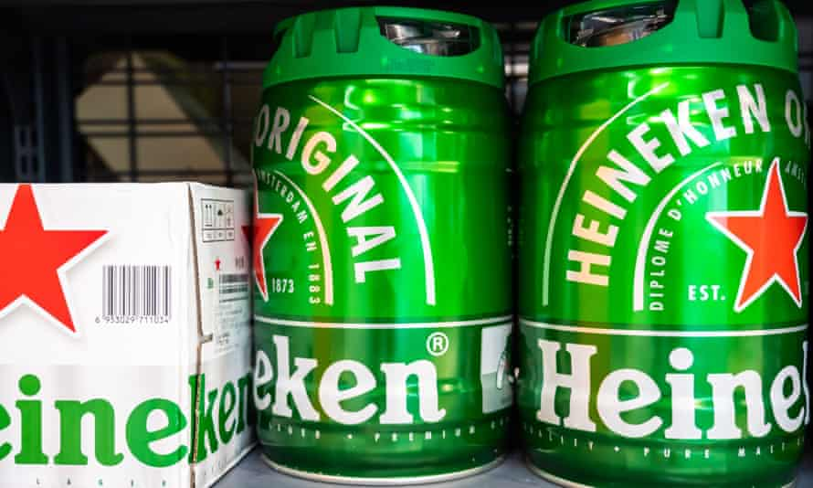 Box and barrels of Heineken