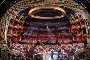 Los Angeles, USA: Alejandro González Iñárritu (right) accepts the Oscar for best director for The Revenant