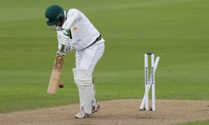 Ali, bowled by Archer for 16.