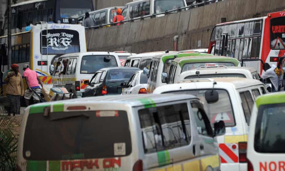 Traffic jam  in Nairobi