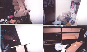 The apartment of Katrina Lias after it was ransacked by Chicago police officers