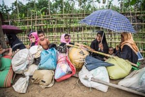 Rohingya refugees in Cox's Bazar on Tuesday.