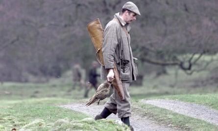 A shooting party on the Duke of Westminster's estate in the Trough of Bowland.