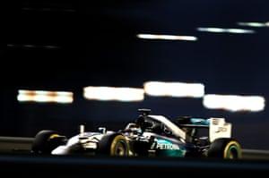 Hamilton speeds through.