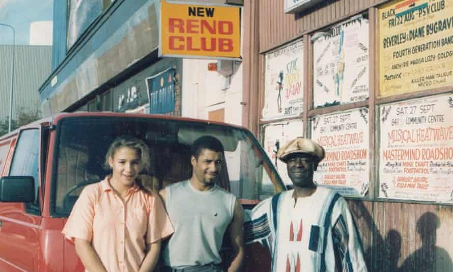 Former Reno club owner Phil Magbotiwan with friends.