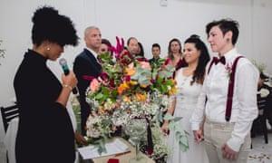 The wedding of Priscilla Cicconi and Bianca Gama in São Paulo, Brazil.