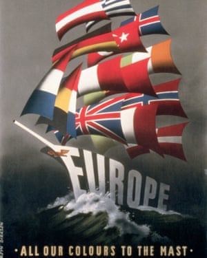 Posters were used to sell the US's role in rebuilding Europe to the American public.