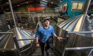 James Watt at Brewdog's new brewery in Aberdeenshire.