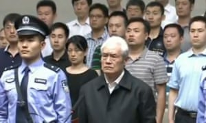 Former Chinese security chief Zhou Yongkang, pictured on trial in June 2015, is one of the highest profile victims of the crackdown on corruption.