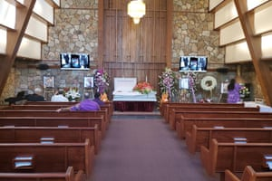 A funeral in San Francisco for a Samoan community elder. Such events are typically attended by hundreds.
