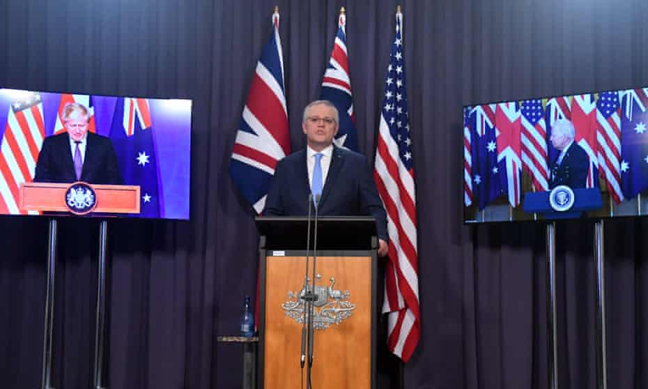 Australia, UK and the US launch security pact AUKUS via videolink