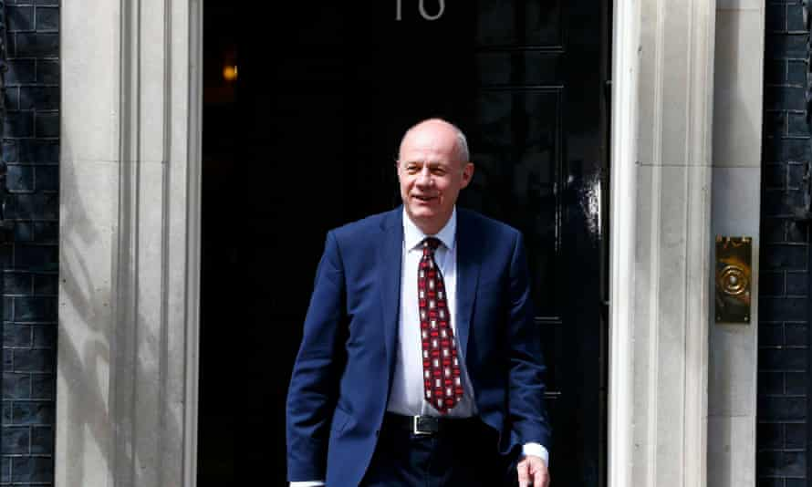 Damian Green, the new work and pensions secretary, leaves 10 Downing Street.