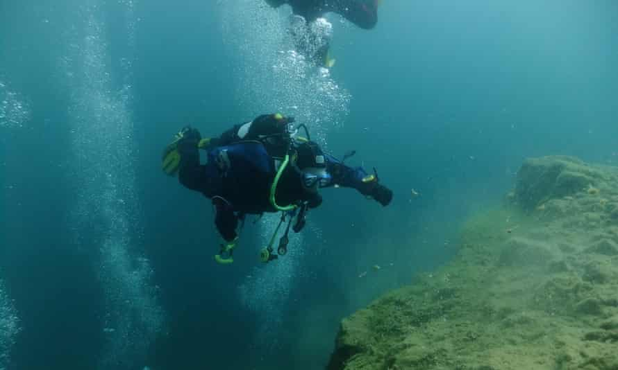rising from the deep mark, Stoney Cove diving, Leicestershire