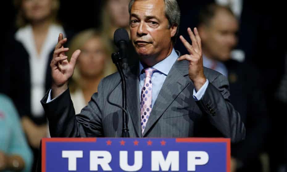 Farage at Republican rally