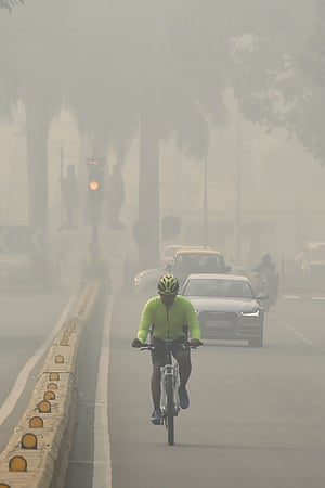 Heavy smog in Delhi earlier this month.