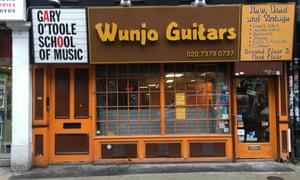 One of Denmark Street's guitar shops.