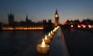 Candles on Westminster Bridge
