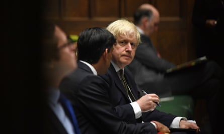 Boris Johnson in the House of Commons, London, 12 October 2020.