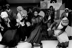 Girls dancing in Wolverhampton Club, England, 1978