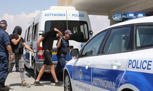 The suspects were taken before a court in Paralimni.