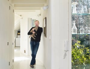 The Observer's architecture critic Rowan Moore photographed at home in east Londo