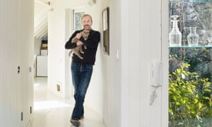 Rowan Moore at home in east London, in the extension, by 6a architects, designed for his late wife.