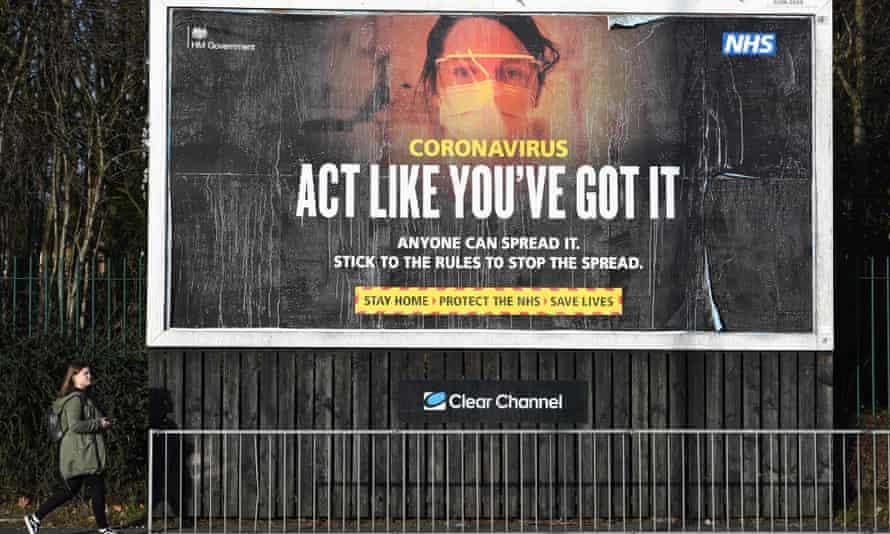 A Covid billboard in Manchester.