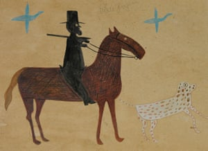 A fake copy of Bill Traylor's untitled man and horse