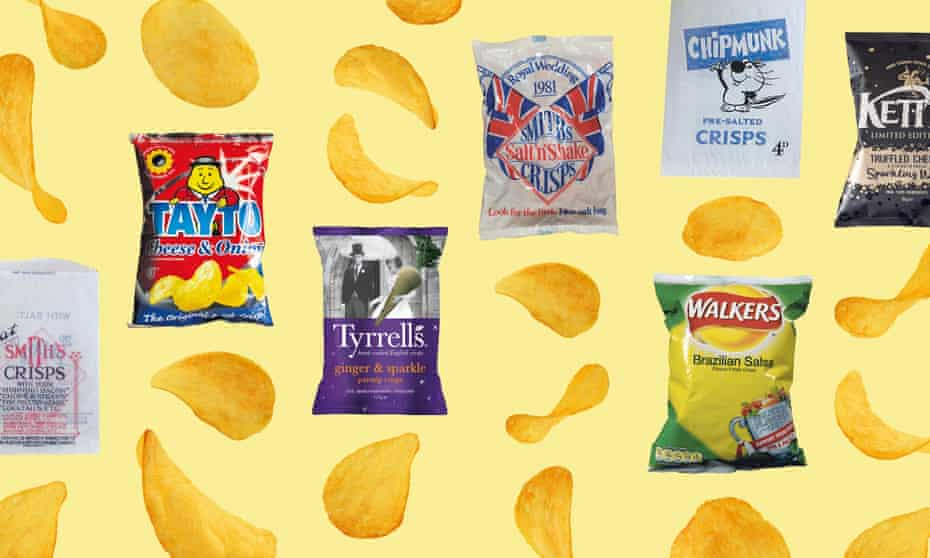 Crisp packets through the ages
