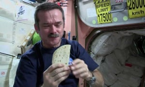 chris hadfield on the iss