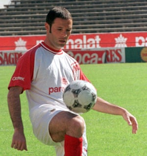 Jean-Marc Bosman at Benfica's training centre.