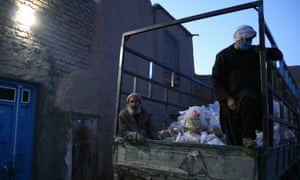 Afghan authorities distribute rations in Herat.