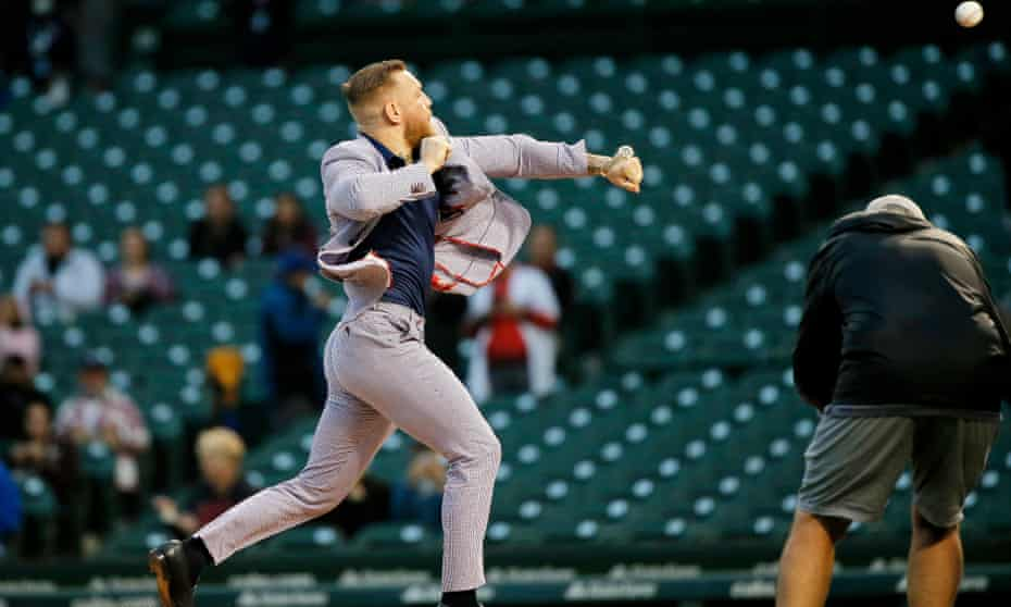 Conor McGregor throws out his ceremonial first pitch