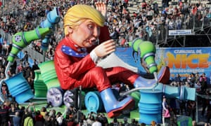 A Trump float at Nice Carnival parade yesterday. Perhaps a theme park could be be built where he would be president for life, flying around in an Air Force One that never leaves the ground.