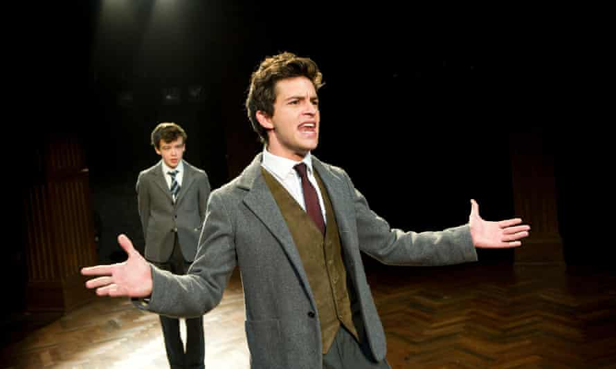 Alex Lawther with Jonathan Bailey at the South Downs by David Hare in 2011.