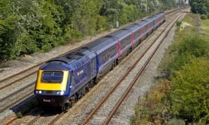First Great Western HST forms a London Swansea service through Milton Park Didcot