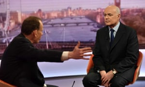 Iain Duncan Smith speaking to Andrew Marr