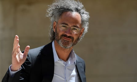 """FRANCE-POLITICS-ECONOMY-TECHNOLOGY<br>Alex Karp, CEO of Palantir arrives ahead of a """"Tech For Good"""" meetup at Hotel Marigny in Paris on May 15, 2019, held to discuss good conduct for technology giants. - French President and New Zealand's premier will host other world leaders and leading tech chiefs to launch an ambitious new initiative known as the """"Christchurch call"""" aimed at curbing extremism online. The political meeting will run in parallel to an initiative launched by the French President called """"Tech for Good"""" which will bring together 80 tech chiefs in Paris to find a way for new technologies to work for the common good. (Photo by Bertrand GUAY / AFP)BERTRAND GUAY/AFP/Getty Images"""