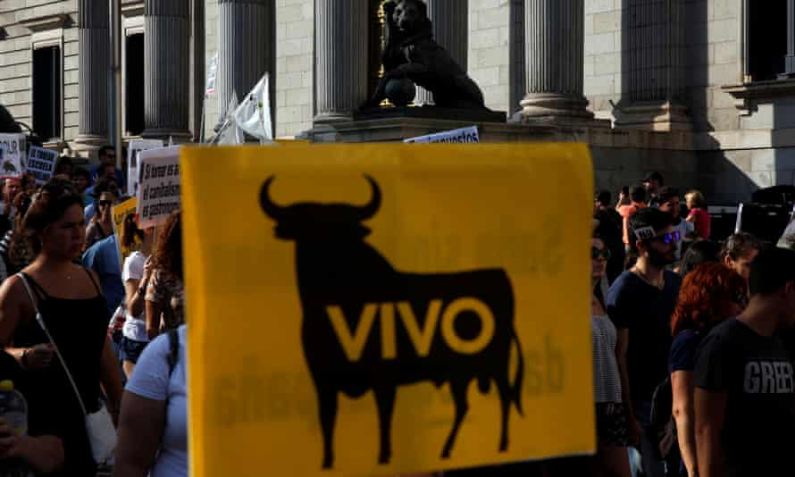 Madrid bullfight rally