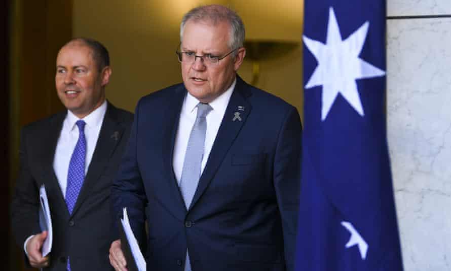 Australian prime minister Scott Morrison and treasurer Josh Frydenberg