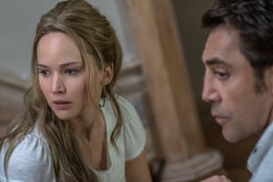'Relentless, ridiculous, occasionally panic-inducing': Jennifer Lawrence and Javier Bardem in Mother!