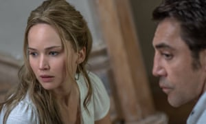 nullLeft to right: Jennifer Lawrence and Javier Bardem in mother!, from Paramount Pictures and Protozoa Pictures.