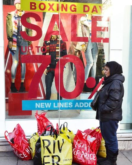 A shopper on London's Oxford Street