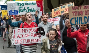 A march to defend schools in Bristol in May