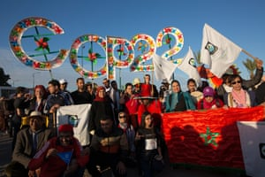The climate march at the COP22 climate conference in in Marrakech, Morocco